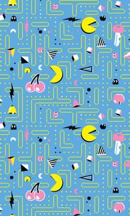 Blue Pac-Man Carpet