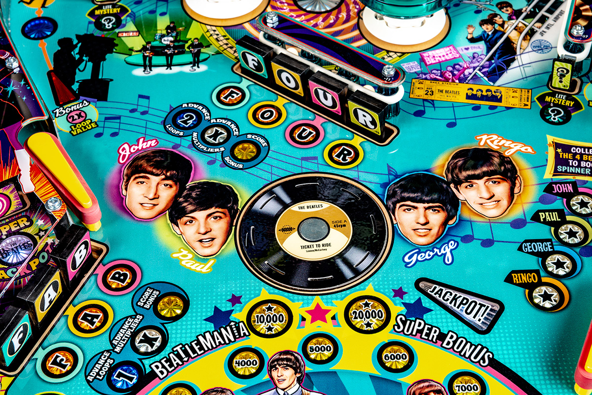 Beatles-Pinball-Machine-Gold-Detail-10