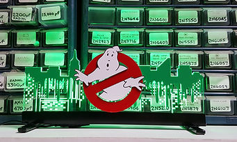 Stern Ghostbusters Sign Green