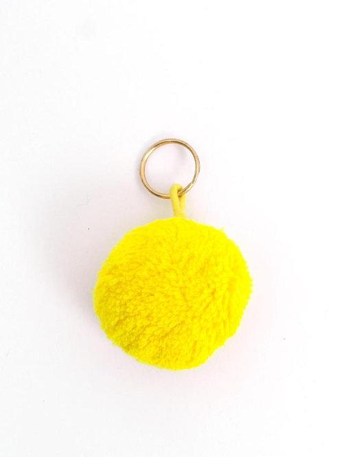 PomPom Keyrings Yellow