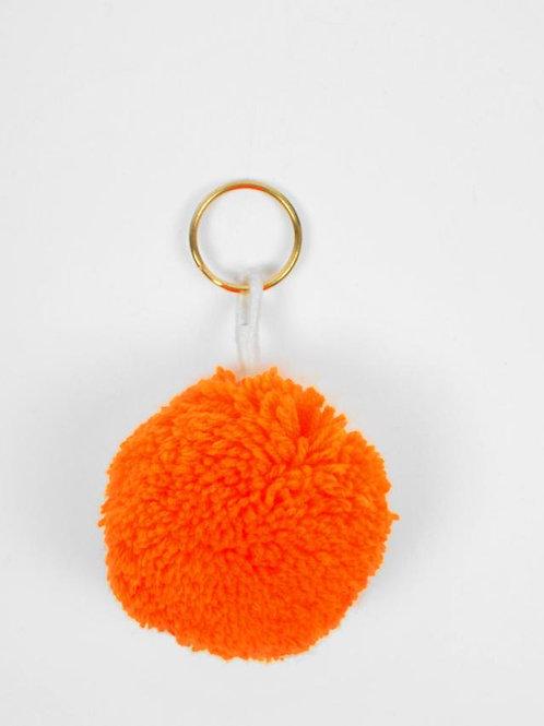 PomPom Keyrings Orange