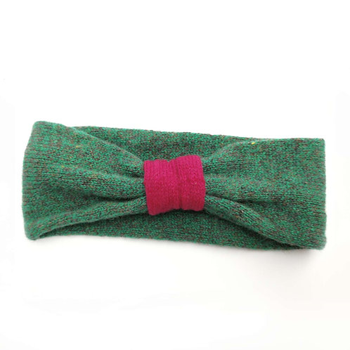 EarCosy in deep green fleck and cerise