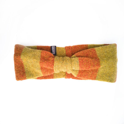 EarCosy in green and orange wide stripes
