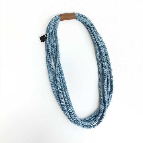 Million Stitch Necklace in denim