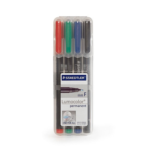 Staedtler Lumocolor (F) 4-Pack permanent