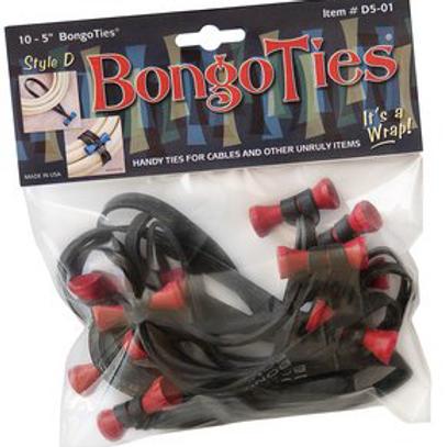 Bongo Ties 10pc. Style D red