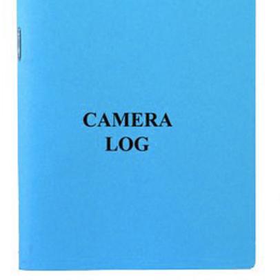 Camera Log Book Blue