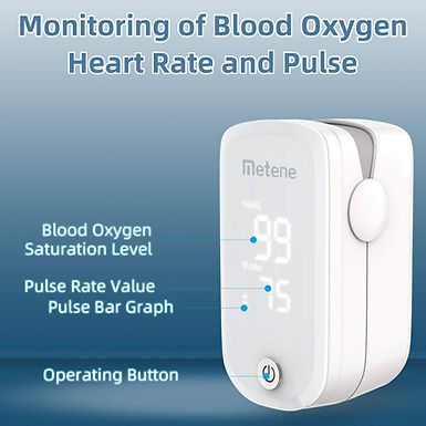 Pulzoximeter, Oxigéntelítettség mérő