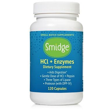 GutZyme  HCl + Enzymes - Smidge™- 120 kapszula