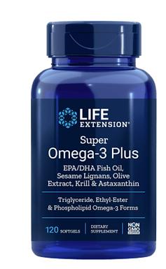 Super Omega-3 Plus EPA / DHA halolaj, szezámlignánok, olíva kivonat, krill és as
