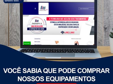 Você sabia que pode comprar os nossos equipamentos pelo site?