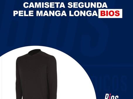Camiseta segunda pele manga longa Bios