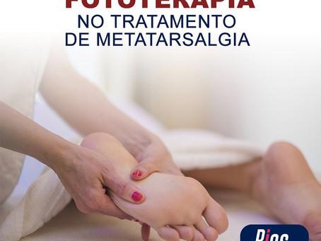 Fototerapia no tratamento de metatarsalgia