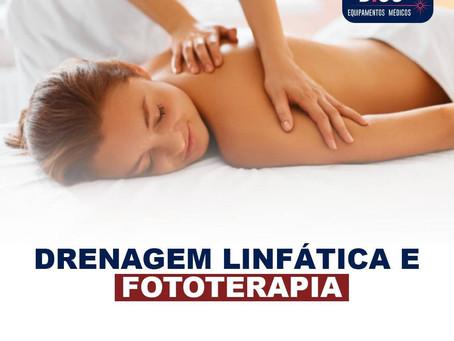 Drenagem linfática e fototerapia