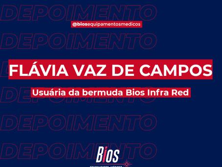 O depoimento de hoje é o de Flávia Vaz de Campos, usuária da bermuda Bios Infra Red
