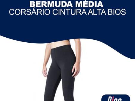 Bermuda Média Corsário Cintura Alta Bios