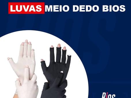 Luvas meio dedo Bios