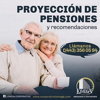 Proyección de pensiones y recomendacione