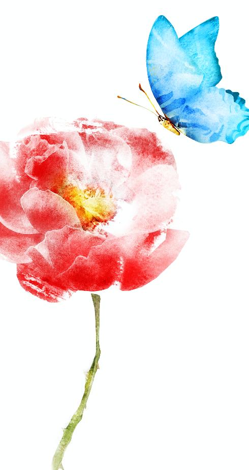 bloem en vlinder edited