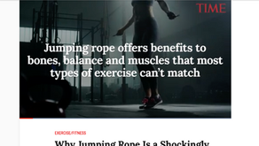 """Why the old-school rope jumping is coming back? Read this """"TIME"""" article. 時代雜誌談跳繩"""