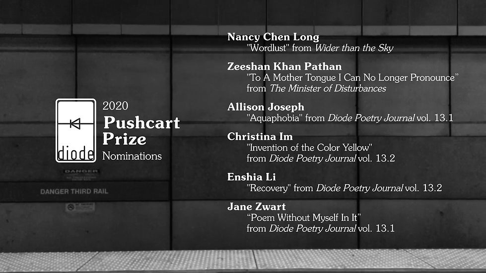 Wide 2020 Pushcart Prize nominations Pos