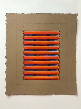Orange Squish - Framed