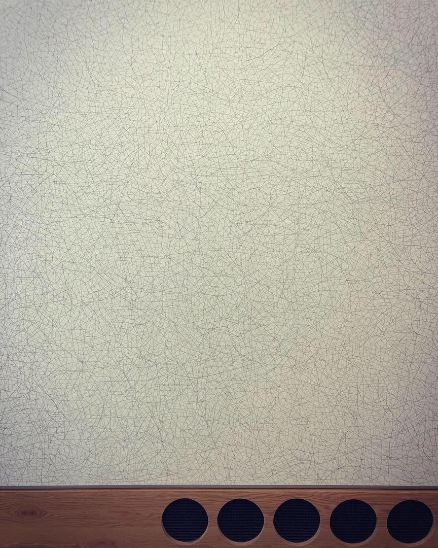 Sol LeWitt-Wall Drawing #128 (Ten Thousand Random Not Straight Lines)