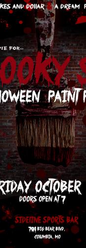 Spooky Sip n Paint Flyer