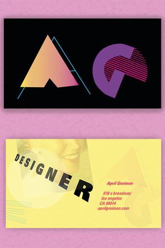 Mock April Grimes Business Card