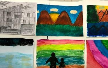 Art Collage - Open studio Day