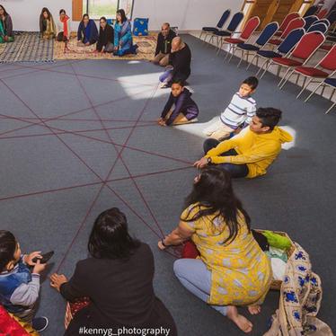 Weaving a gratitude circle