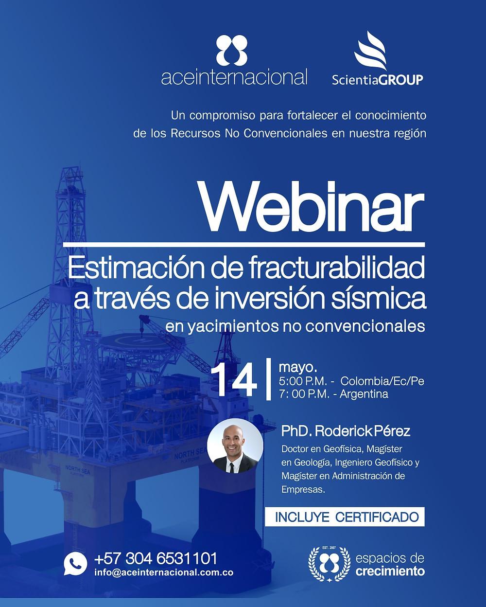 Webinar - Estimación Fracturabilidad a través de inversión sísmoca en yacimientos no convencionales - ACE Internacional cursos petroleros