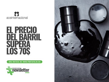 El precio del barril supera los 70$