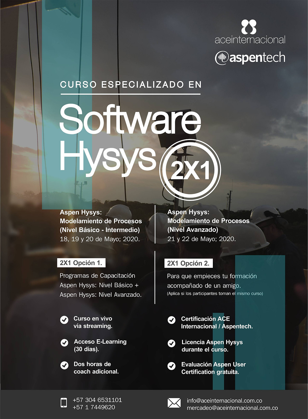 Cursos Software Hysys ACE Internacional Aspentech - Capacitación virtual