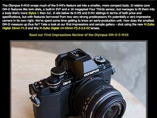 Olympus OM-D E-M10 Breaks cover