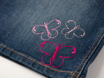 Embellished Denim Skirt