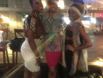Jade Muse walks in Welcome to Wakanda Fashion Show