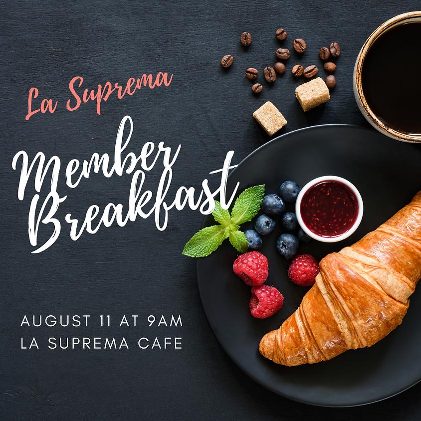 August Member Breakfast