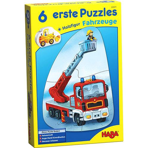 6 erste Puzzles – Fahrzeuge