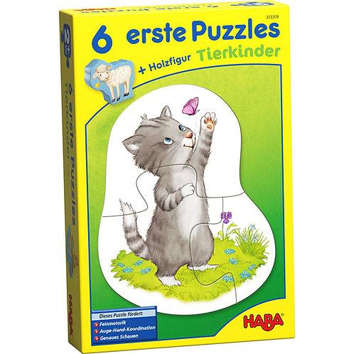 6 erste Puzzles – Tierkinder