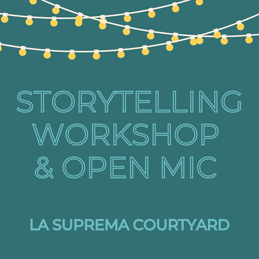 Storytelling Workshop & Open Mic with Anna Darian
