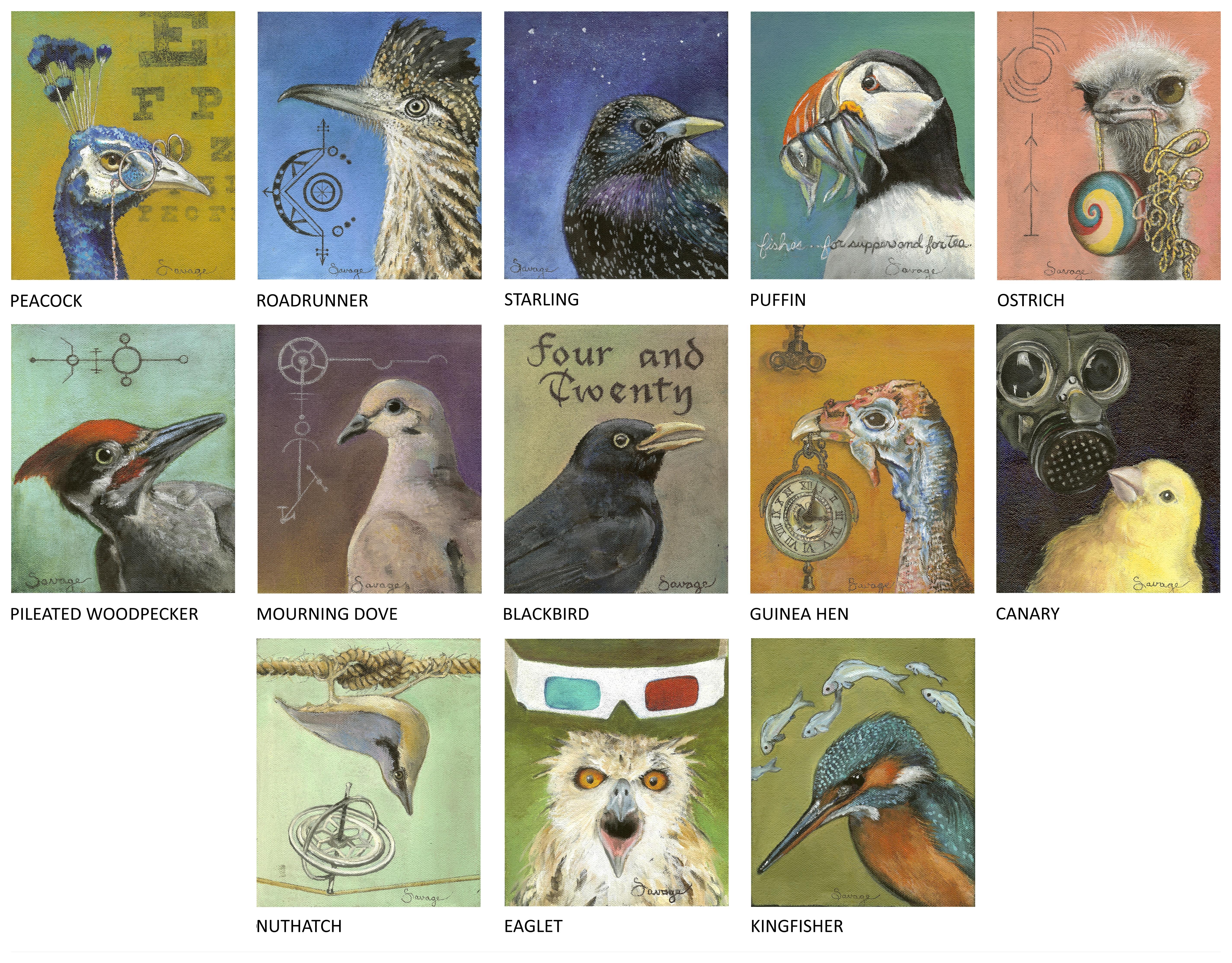 Bird portrait series_Acrylic Each 5x6 (upload 2)