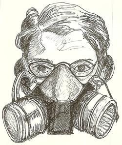Self Portrait, Vapor Mask