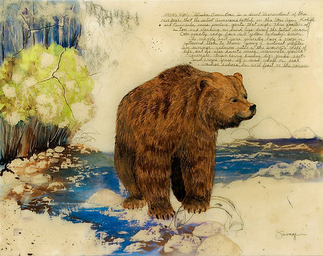 Alaskan Brown Bear Fresco