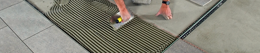 Tile being intalled with Ardex mortar
