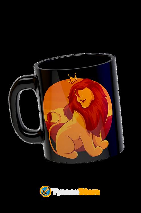 Caneca Preta - O Rei Leão