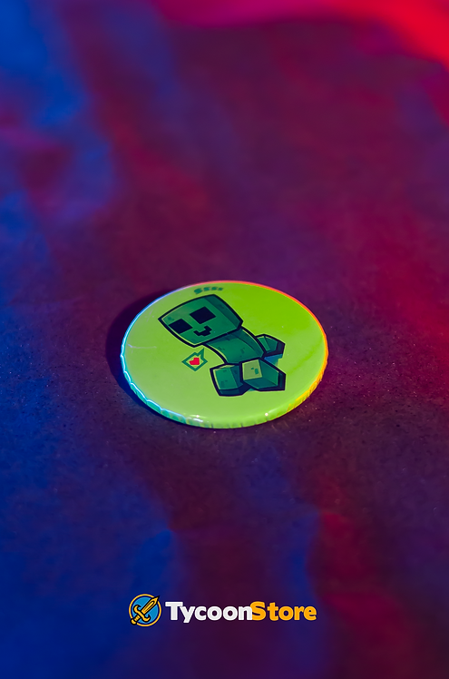 Botton - Creeper Minecraft