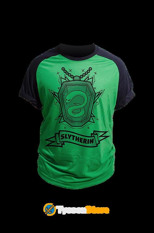 Camiseta Verde - Brasão Casa Sonserina Slytherin V3