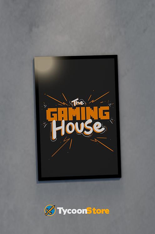 Placa Decorativa - The Gaming House (Casa Gamer)