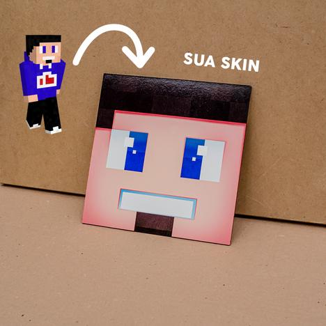 Placa Decorativa com sua Skin do Minecraft